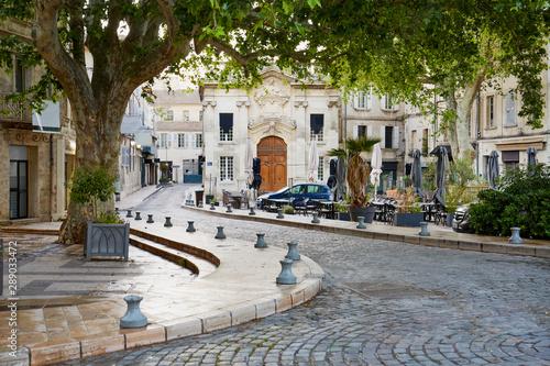 Photo Avignon, France cobblestone street