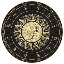 Vector Circle Of The Zodiac Si...