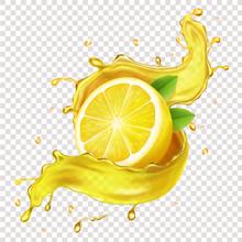 Half Of A Lemon, Juicy Slice O...