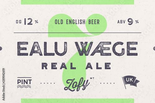 Платно Vintage Label. Set of graphic modern vintage label