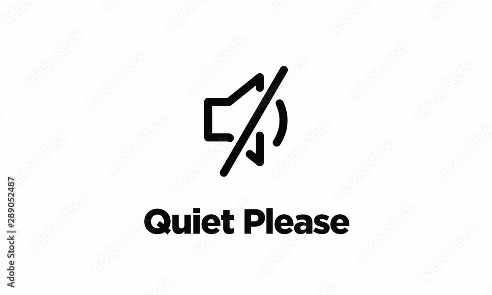 Fototapeta Quiet Please Vector Sign Board