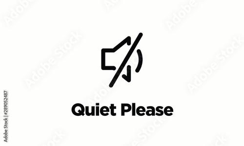 Fototapeta Quiet Please Vector Sign Board obraz