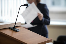 Microphone In The Courtroom Of...