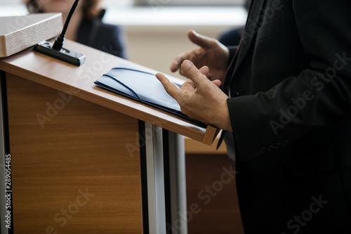 witness testifies in a Russian court Fototapeta
