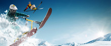 Skiing, Snow Scoot, Snowboardi...
