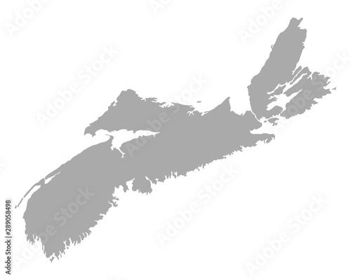 Obraz na płótnie Karte von Nova Scotia