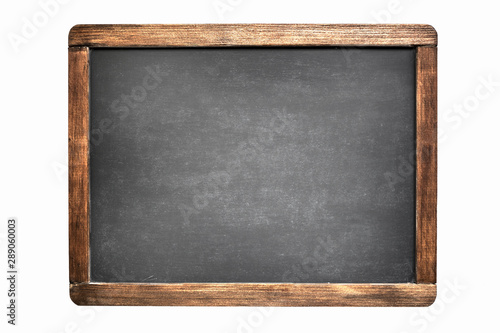 Foto  blackboard isolated on white background