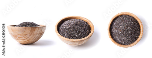 Photo chia seeds in bowl