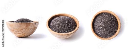 Fototapeta chia seeds in bowl obraz