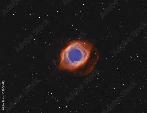 Famous Helix aka Eye Of God Nebula Canvas Print
