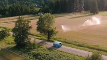 Volkswagen Hipster Van Driving...