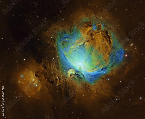 Fotografie, Tablou  Well known Great Nebula in Orion in Hubble Space Telescope palette