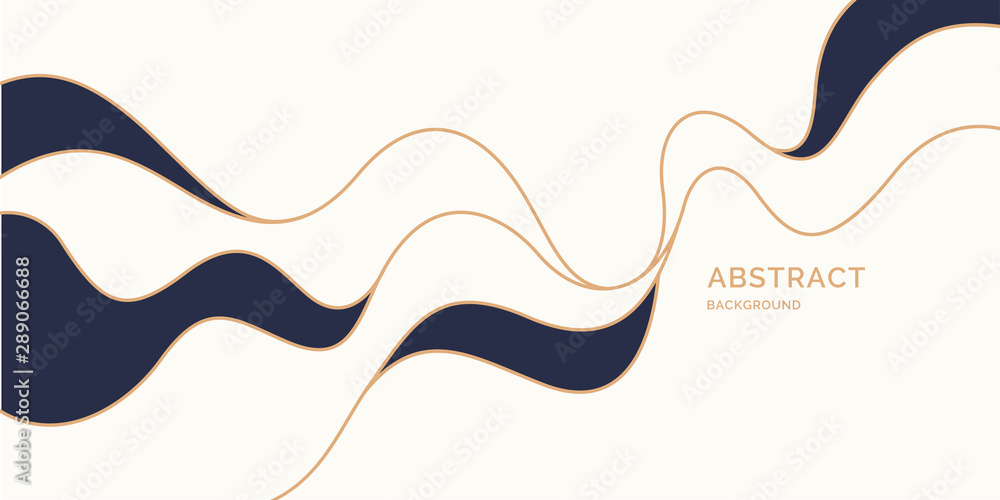 Fototapety, obrazy: Poster with dynamic waves. Vector illustration in minimal style. Abstract background.