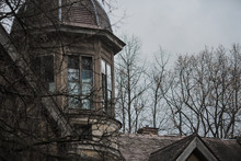 Old Abandoned Gothic House. Th...