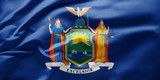 Fototapeta Nowy Jork - Waving state flag of New York - United States of America