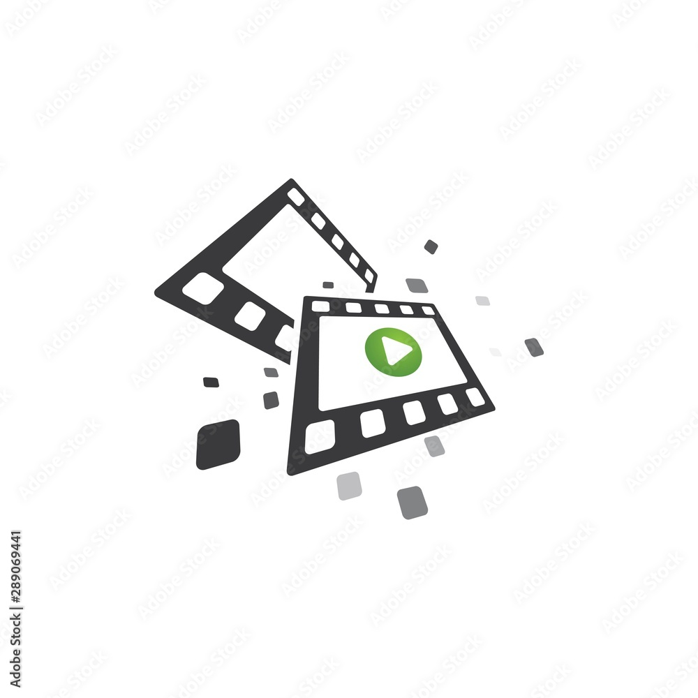 Fototapeta abstract film icon vector illustration