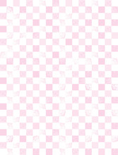 Pink And White Checkered Geometric Vector Pattern. Light Pink Squares Isolated On A White Background. Simple Abstract Grunge Print Ideal For Fabric, Wrappig Paper, Textile, DIY Decoration.