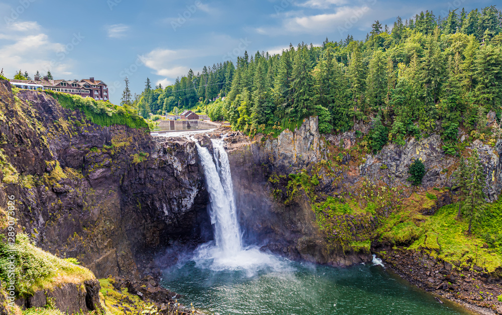 Fototapety, obrazy: View of Snoqualmie Falls, near Seattle in the Pacific Northwest