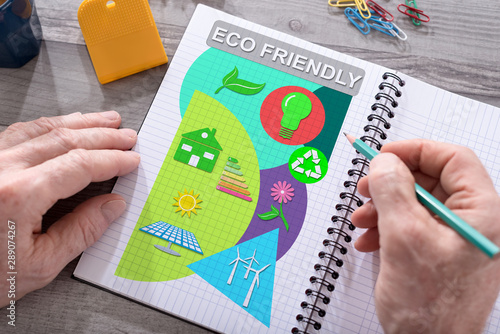 Stampa su Tela  Eco friendly concept on a notepad