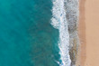 canvas print picture - Aerial photo of beach and ocean
