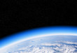Leinwanddruck Bild - Ozone layer from space view of planet Earth