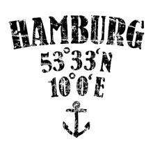 Hamburg Koordinaten Anker (Vin...