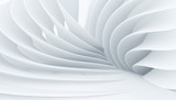Abstract white interior with fantastic levels. Suitable for use as a Wallpaper in a modern interior. 3D rendering.
