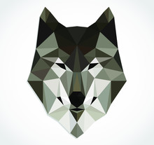 Triangular Wolf Head