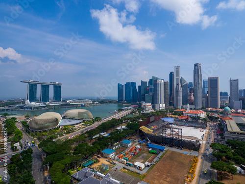 Singapore skyscrapers Canvas Print