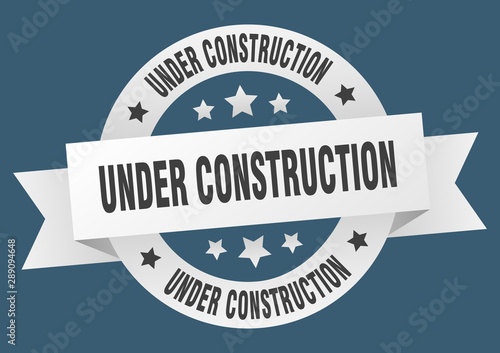 under construction ribbon Wallpaper Mural
