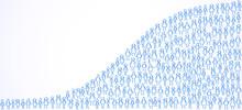 World Population, Stick Figures Forming World Population Statistic