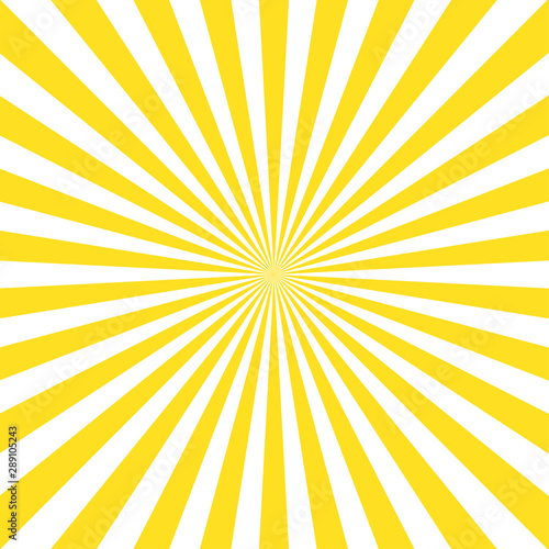 Fototapeta Vintage abstract template with yellow sunrays on light background. Sunlight abstract background. Starburst wallpaper. Retro bright backdrop. obraz na płótnie