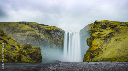 Aluminium Prints Waterfalls skogafoss waterfall iceland 1