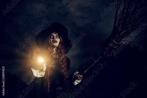 Obraz na plátně  film with witch