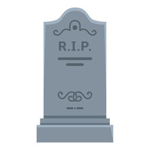 Vector Tombstone Icon. Flat Il...