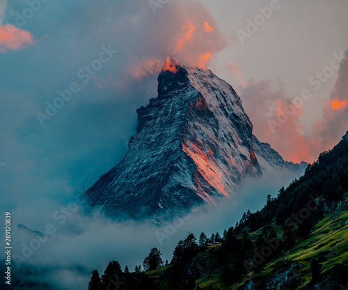 Photo Sunset in the Matterhorn - Zermatt