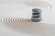 Leinwanddruck Bild - Japanischer Zen Garten im Sand
