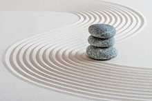 Japanischer Zen Garten Im Sand