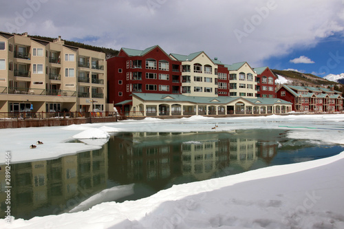 Fotografie, Tablou  Colorado nature background, ski resort vacation concept
