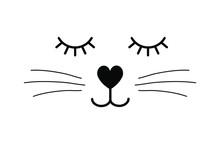 Vector Flat Cartoon Black Cat ...