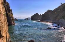 Rocky Coast In Playa La Barque...