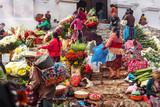 Fototapeta Na drzwi - Chichicastenango, Flower Market and Church Santo Tomás, Guatemala