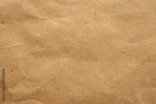 Old brown eco recycled kraft paper texture cardboard background Fotobehang