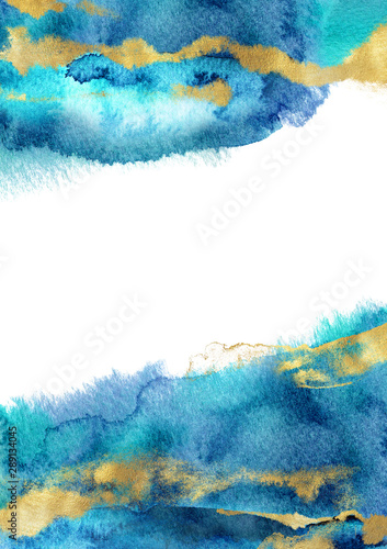 Watercolor hand drawn vertical A4 template Wallpaper Mural