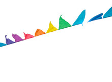 Colorful Triangles Flags Ornam...
