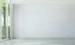 Leinwanddruck Bild White empty and and garden view background