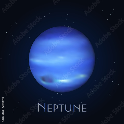 Valokuva Isolated Neptune. Farthest planet in solar system