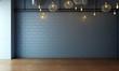 Leinwanddruck Bild - modern loft living room interior design and brick wall texture background