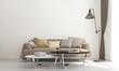 Leinwanddruck Bild - Modern living room interior design and white wall texture background