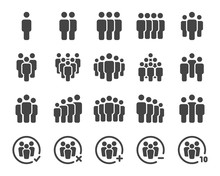 People And Population Icon Set...